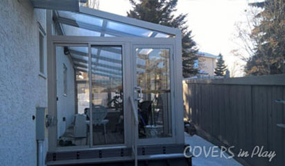 Operable or Fixed Single Peak Lean-To Enclosures
