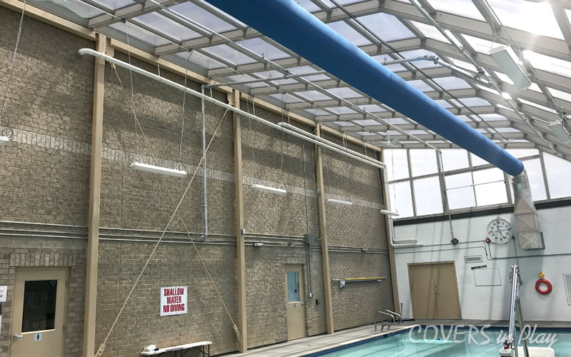 Inside Commercial Pool Enclosure