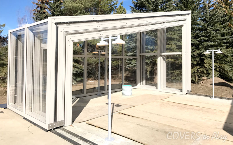 Lean-to Pool Enclosure