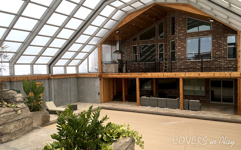 Triple Peak Retractable Roof Enclosure